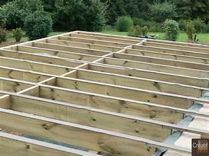 terrasse bois an cours de construction reygade correze With construction de terrasse en bois