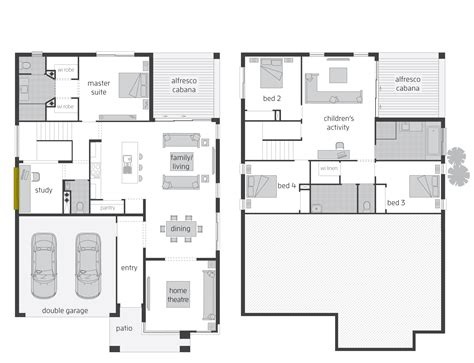split level floor plan parkland act floorplans mcdonald jones homes