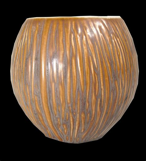 Bowl Vase by Pottery Coconut Shaped Bowl Or Vase Collectors Weekly
