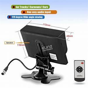 7 U0026quot  Monitor Hd 12v  24v With 2 Av Inputs 4pin Advanced