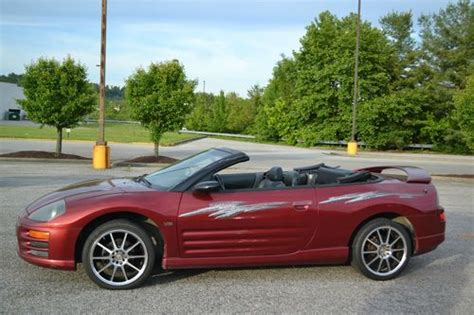 2001 Mitsubishi Eclipse Spyder Gt Convertible by Sell Used 2001 Mitsubishi Eclipse Spyder Gt Convertible 2