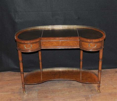 bureau writing desk regency walnut kidney desk writing table bureau furniture