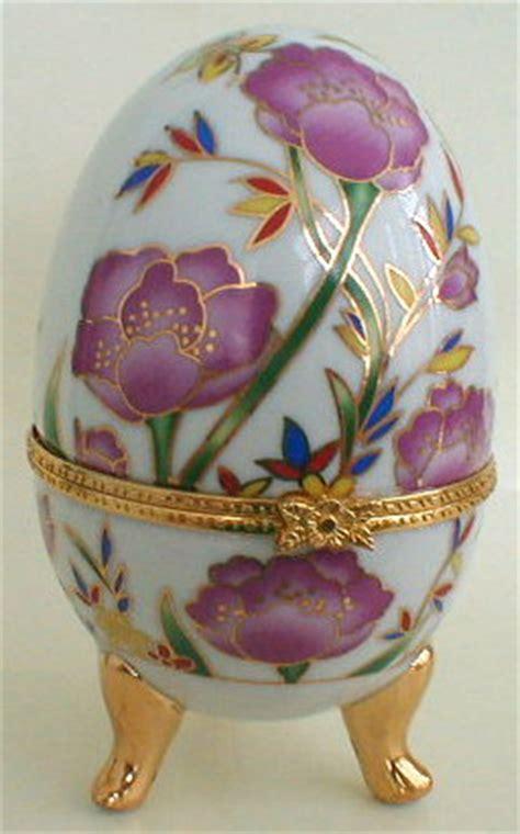 flowers porcelain egg jewelry box russian legacy