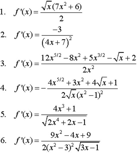 Find Derivatives Of Functions In Calculus