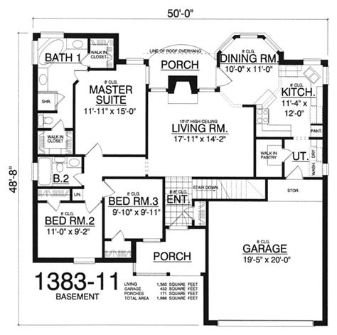 stunning images basement house plans the gleaners 8170 3 bedrooms and 2 5 baths the house