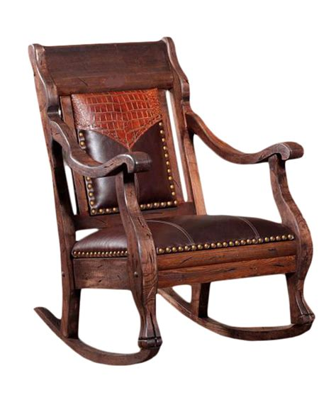 leather rocking chair cowhide and leather rocker rusticartistry com