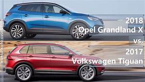 Opel Grand Land X : 2018 opel grandland x vs 2017 volkswagen tiguan technical comparison youtube ~ Medecine-chirurgie-esthetiques.com Avis de Voitures