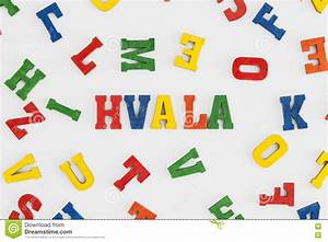 hvala stock image image of white wooden letters With thank you wooden letters