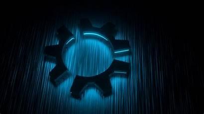 Glow Kubuntu Wallpapers Dark Linux Backgrounds Desktop