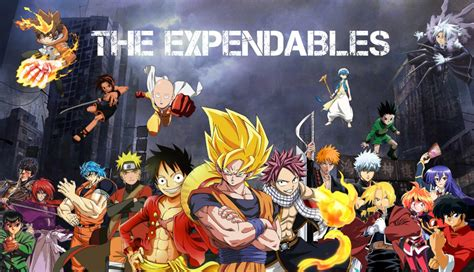 Anime Mix Wallpaper - anime mix the expendables by nekotheotaku on deviantart