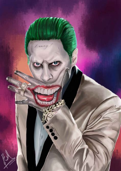 The Joker (jared Leto) Digital Painting By Brianmarianto