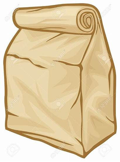 Bag Lunch Clipart Brown Clip Paper Bags