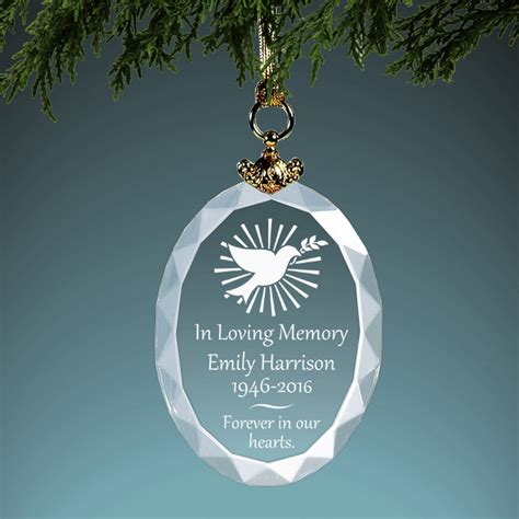 christmas memorial ornaments personalized memorial ornament
