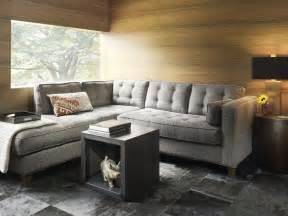 contemporary small living room decoration gray sofa decobizz