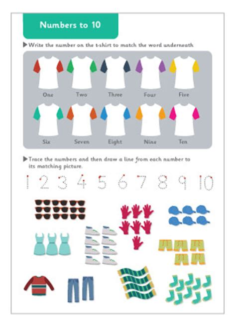 numbers to 10 maths worksheet free early years primary