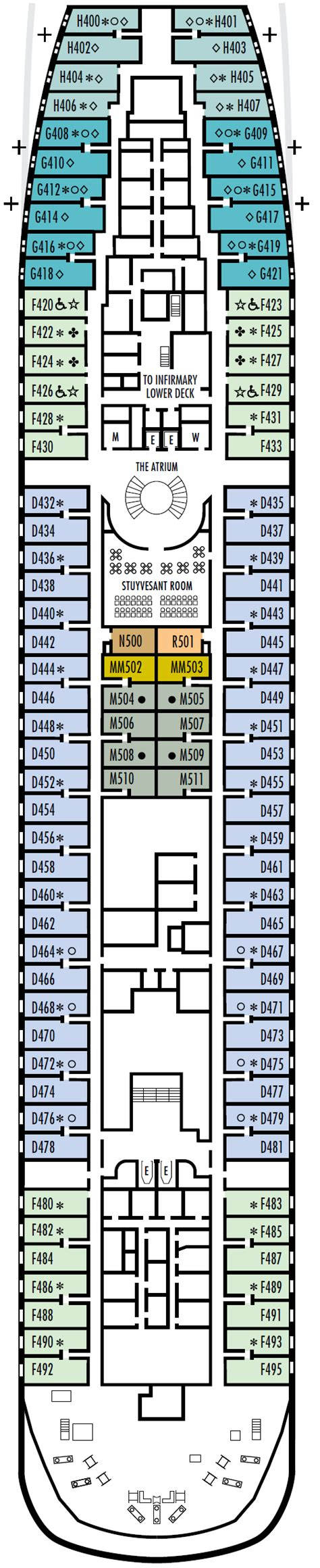 Prinsendam Deck Plans 2010 by Prinsendam America Line Cruise Direct