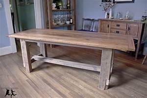 reclaimed heart pine farmhouse table diy part 5 With building a reclaimed wood table