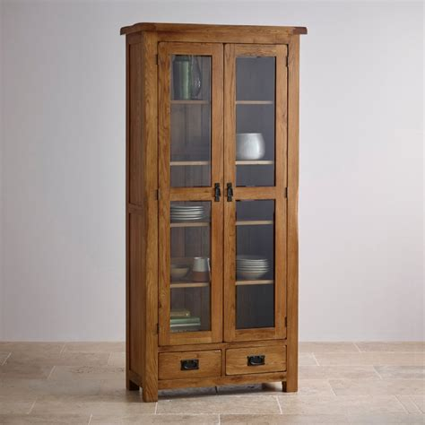 kitchen glazed cabinets original rustic glazed display cabinet in solid oak 1772