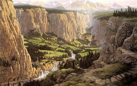 valley cliffs waterfalls dell wallpapers valley cliffs