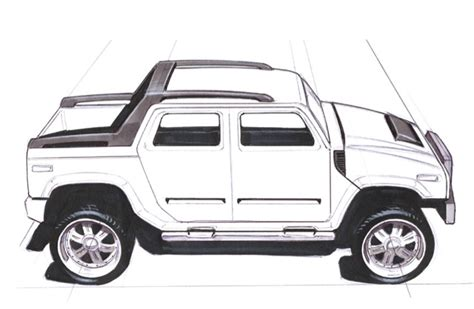 Hummer Sketch By Magnek On Deviantart
