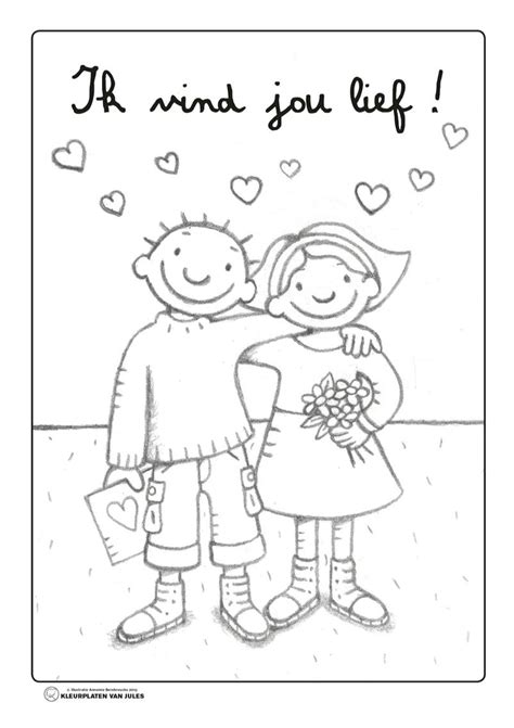 Kleurplaat Juf Valentijn by Kleurplaat Jules Valentijn Start Einde Schooljaar