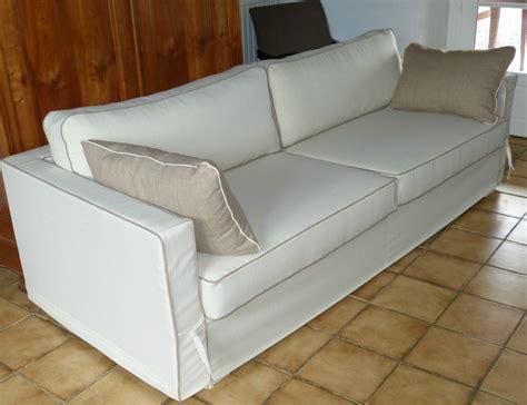 drap canapé housse de canapé la déco à façon artisan tapissier