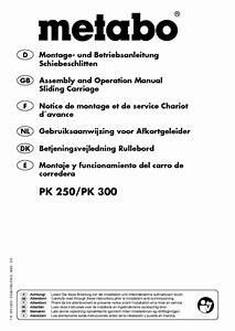 Pk 250 Manuals
