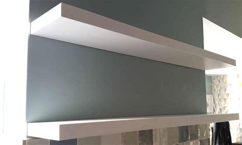 Making White Gloss Floating Shelves 58 Gosforth Handyman