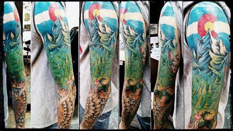 colorado tattoos  men rocky mountain design ideas
