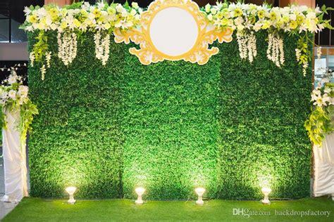 green leaves wall custom wedding party backdrop