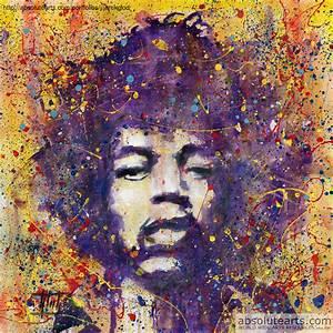 Jaroslaw Glod Artwork: Jimi Hendrix | Original Painting ...
