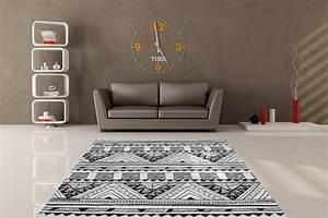 davausnet tapis salon blanc et noir avec des idees With tapis pour salon moderne