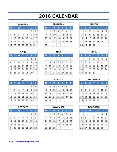 word 2016 templates 2016 calendar templates