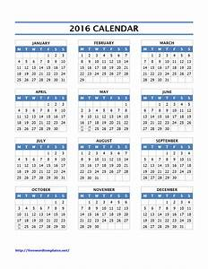 2016 calendar templates for Calendar template word 2016