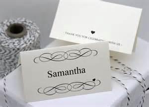 DIY Wedding Place Cards Templates Free Printable
