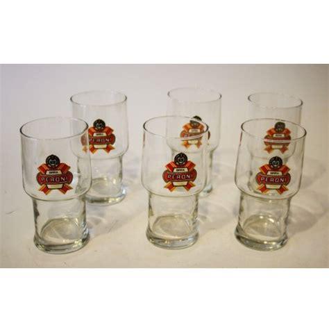 bicchieri peroni set lotto 6 bicchieri boccali in vetro peroni