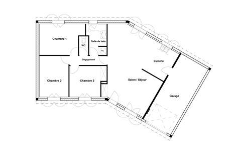 plan maison 7 chambres plan maison 120m2 plain pied plan maison plain pied 3