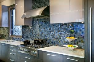 Blue Kitchen Tile Backsplash 18 Gleaming Mosaic Kitchen Backsplash Designs