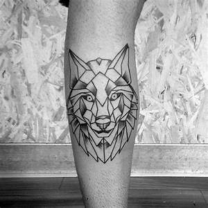 Tatouage Loup Geometrique : tatouage g om trique loup ~ Melissatoandfro.com Idées de Décoration