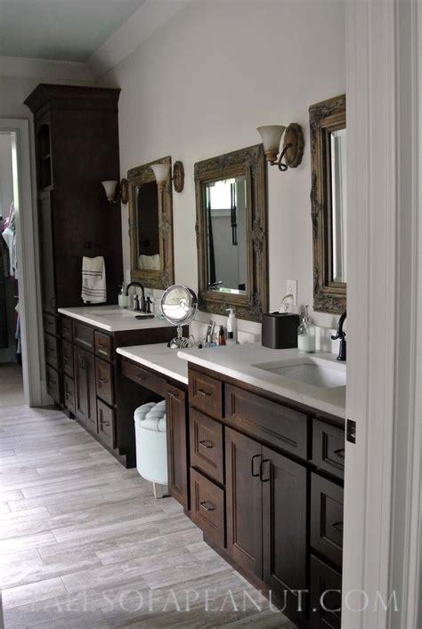 Espresso Bathroom Cabinets by Bathroom Espresso Cabinet Marble Counter Bronze