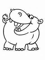 Hippo Coloring Pages Hippopotamus Animal Printable Children Animals Cliparts Para Colorear Animales Colouring Cartoon Hugolescargot Baby Clipart Easter Zoo Bunny sketch template