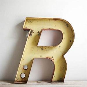 vintage drive in metal channel letter r With metal letter r