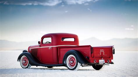 Red Classic Car Hd Wallpaper