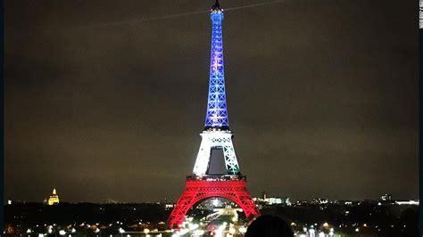 eiffel tower lights eiffel tower lights up for cnn