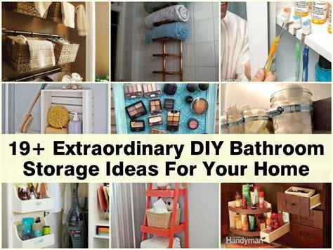 bathroom organization ideas 19 extraordinary diy bathroom storage ideas for your home