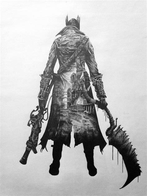 girlfriend drew Bloodborne artwork in her free time. Thought it belonged here. | Bloodborne
