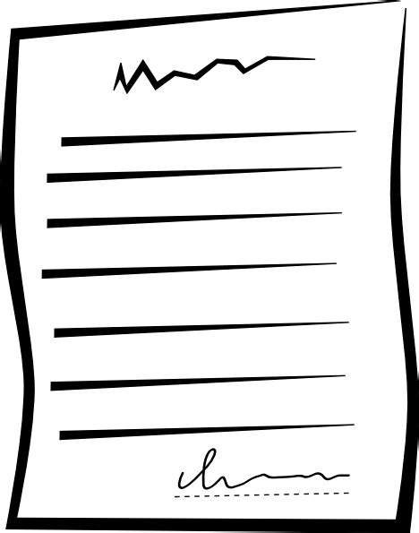 documents clipart signed document offer clip at clker vector clip