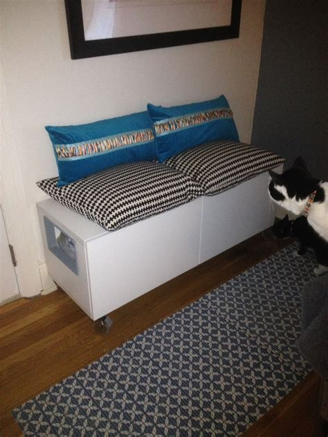 Ikea Hack Besta Storage Cabinethidden Cat Litter Boxes