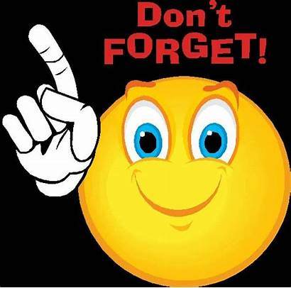 Reminder Rent Clip Clipart Emoji Friendly Forget