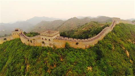 la gran muralla china  vista de dron el drone